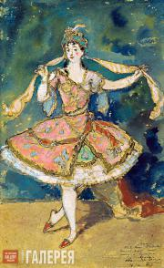 Alexander BENOIS. Armide. Sketch of the costume for  Nikolai Tcherepnin's ballet
