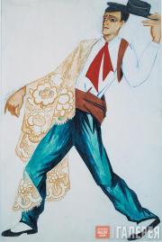 Н.С.Гончарова. Испанец с шалью. 1916