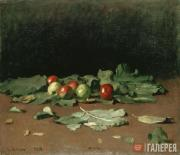 Repin Ilya. Apples and Leaves. 1879