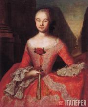 И.Я.ВИШНЯКОВ.  Портрет Ксении Ивановны Тишининой (1736–1757). 1755