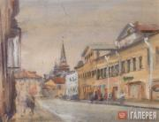 Boris CHERNYSHEV. Volkhonka Street. Toward Borovitsky Gate. Early 1950s