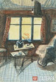 Tatyana Shishmareva. Interior. An Autumn Morning. 1963