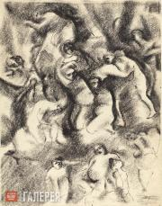 Chekrygin Vasily. Multi-figure Composition. 1921