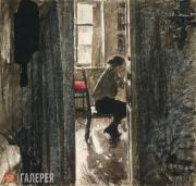 Верейский Георгий. За шитьем. 1926