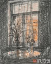 Tatyana Shishmareva. Evening. Light in the Window. 1979