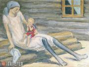 Chernyshev Nikolai. With a Little One. 1931