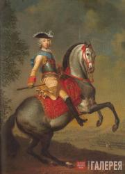 Georg Christoph Grooth. Grand Duke Petr Fedorovich on Horseback