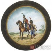 A military porcelain plaque