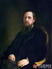 Ghe Nikolai. Portrait of Mikhail Saltykov-Shchedrin. 1872