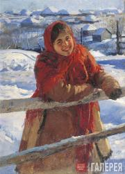 Fedot SYCHKOV. By the Fence. Winter. 1931