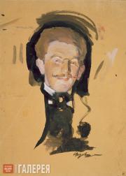 Serov Valentin. Portrait of Léon Bakst. First half of the 1900s