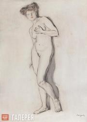 Serov Valentin. A Female Model. 1906-1907