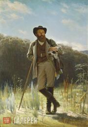 Kramskoi Ivan. Portrait of Ivan Shishkin. 1873