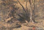 Шишкин Иван Иванович. Лесная глушь. 1870