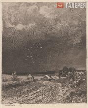 Shishkin Ivan. Before the Storm. 1873