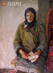 Tkachev Alexei and Sergei. Portrait of the Artists' Mother. 1955