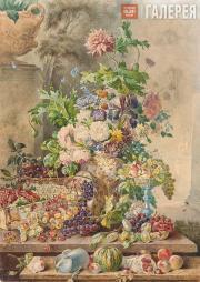 Sokolov Pyotr. Flowers and Fruits. 1840s