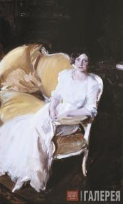 Sorolla Joaquin. Clotilde Seated on the Sofa. 1910