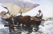 Sorolla Joaquin. The Return from Fishing. c. 1894
