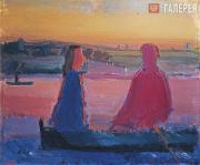 Irina STARZHENETSKAYA. Two in the Boat. 1982