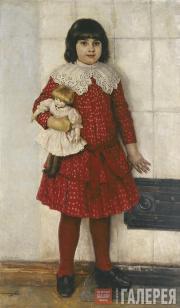 Surikov Vasily. Portrait of Olga Surikova in Her Childhood. 1888