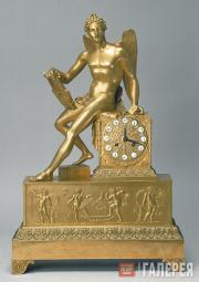"""Winged Genius"" mantelpiece clock. The 1810s"
