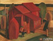 Yulia Syukhina. Quiet Sunset: The Village of Puchuga. 2003