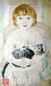 Бельцова Александра. Таня с кошкой. 1928