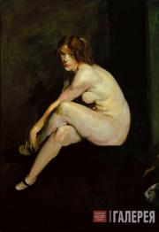 George BELLOWS. Nude Girl, Miss Leslie Hall. 1909