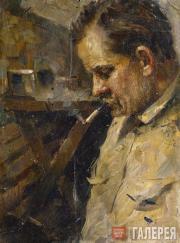 Tkachev Sergei. A Military Cobbler. 1944