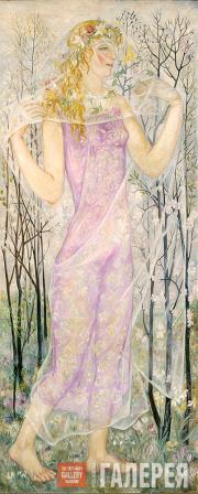 Н.С. Гончарова. Лето. 1922. Панно для особняка С.А. Кусевицкого. 1922
