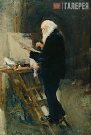 Ulyanov Nikolai. The Artist Nikolai Ge at Work. 1895