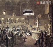 Венецианов Алексей. Натурный класс в Академии художеств. Ок. 1824