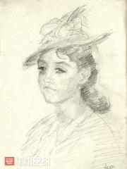 Falk Robert. Portrait of Tatiana Verkhovskaya. 1940