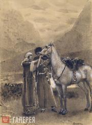 М.А.ВРУБЕЛЬ. Прощание Зары с Измаилом. 1890–1891