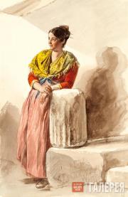 Italian Woman in a Yellow Shawl. 1832