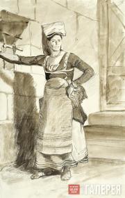 Italian Woman from Sanino. Late 1820s