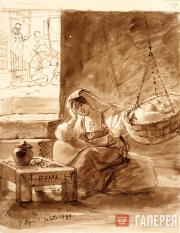 Italian Woman Rocking a Cradle. 1832 (?)