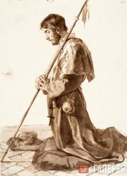 A Praying Pilgrim. Late 1820s