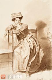 Italian Woman from Nettuno. Late 1820s