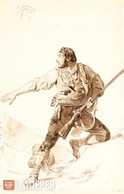 A Robber. Sketch of a Male Figure. Early 1830s