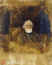 Pokhitonov Ivan. Portrait of Ivan Sergeevich Turgenev. 1882