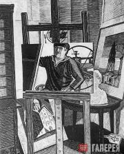 Автопортрет в мастерской. Из серии «Московские интерьеры и портреты». 1986