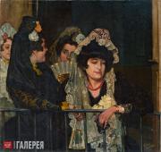 Zuloaga Ignacio. A Spanish Woman in a Box at the Plaza de Torres. 1901
