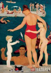 Zhilinsky Dmitry. At the Sea. Family. 1964