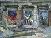 Tyulkin Alexander. Flowers in the Windows. 1955