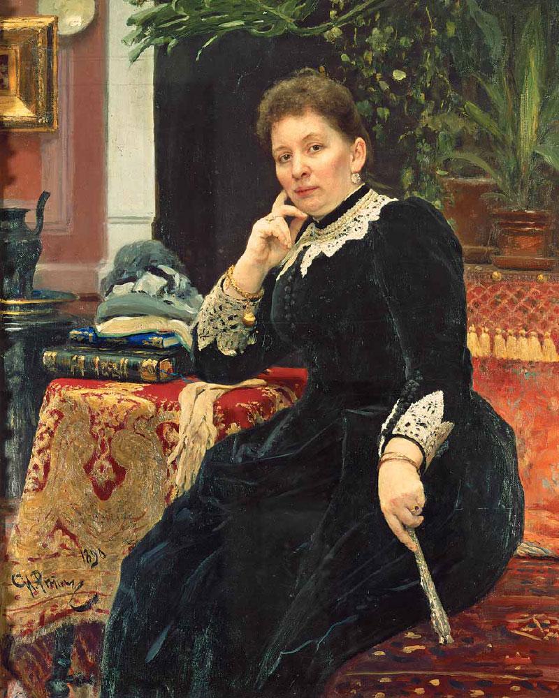 Ilya REPIN. Portrait of Olga Aleksandrova-Geins. 1890
