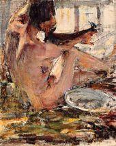 Nikolai Fechin. Nude. A sketch. 1914