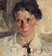 Nikolai Fechin. Portrait of Natalia Krotova. 1923