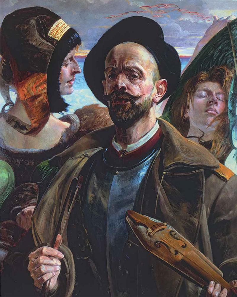 Jacek MALCZEWSKI. On One String (Self-Portrait), 1908